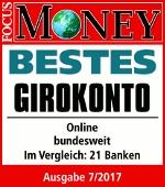 DKB gemeinschaftskonto focus money testsiegel 2017